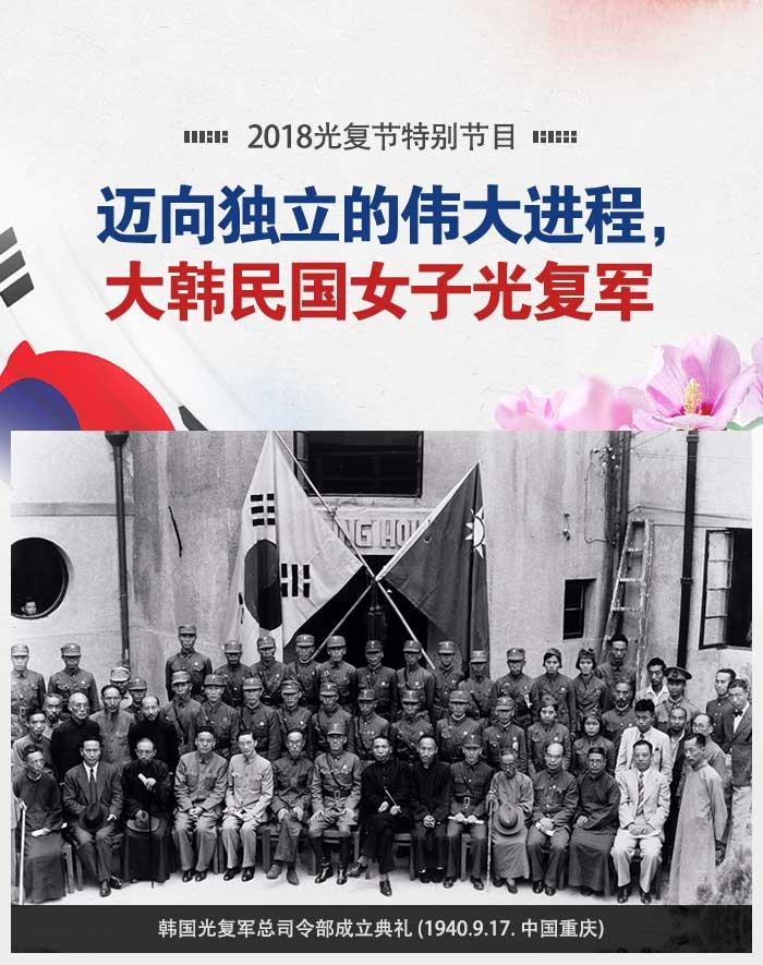韩国光复军总司令部成立典礼 (1940.9.17. 中国重庆)