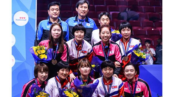 스웨덴세계탁구선수권단일팀